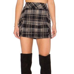 Free People Plaid Mini Skirt